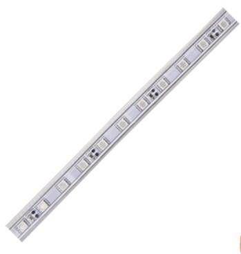 Светодиодная лента Ecola 220В  красный 14.4w/m IP68 100м