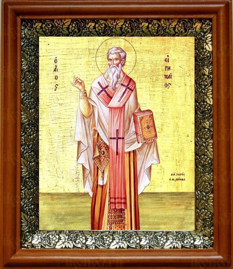 Ириней Лионский (Лугдунский) (19х22), светлый киот