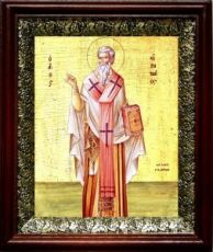 Ириней Лионский (Лугдунский) (19х22), темный киот