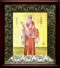 Ириней Лионский (Лугдунский) (21х24), киот со стразами