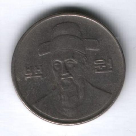 100 вон 1991 г. Южная Корея