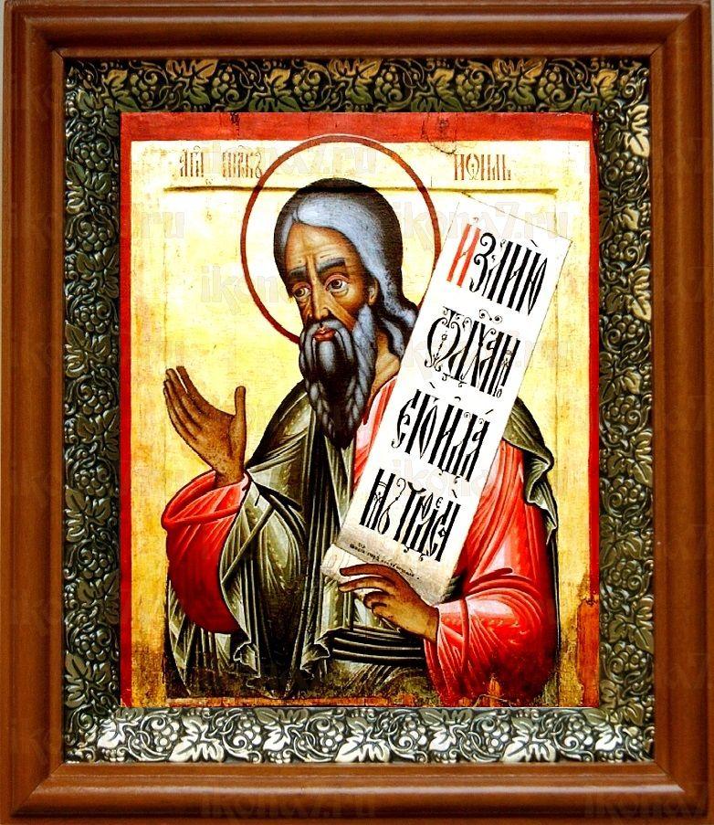 Пророк Иоиль (19х22), светлый киот