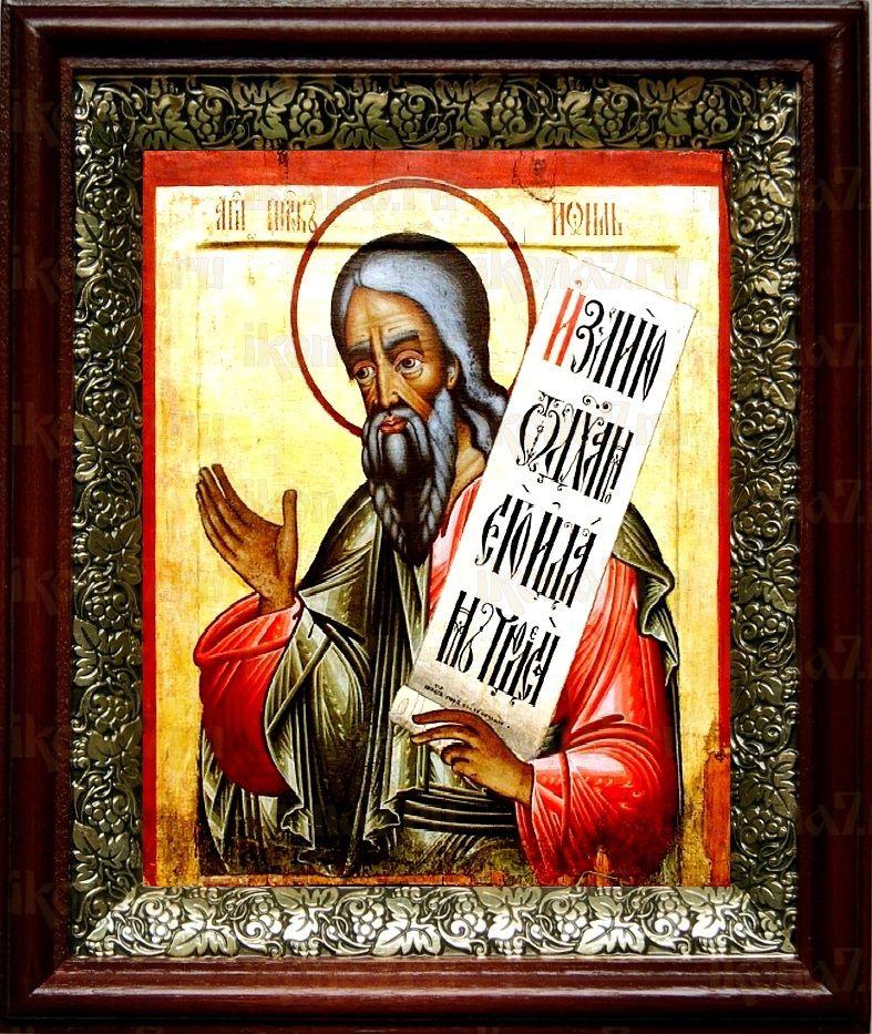 Пророк Иоиль (19х22), темный киот