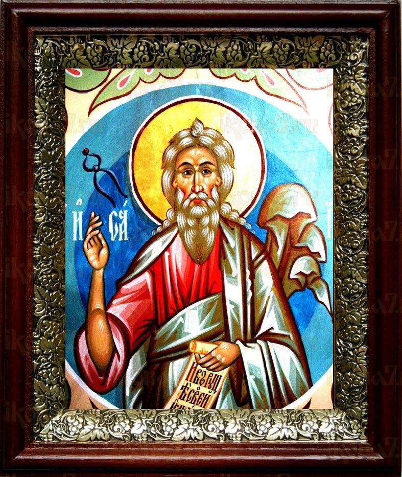 Пророк Исаия (19х22), темный киот