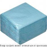 Салфетки ВОСХОД 1сл 24х24 Цветные 50шт Голубой, шт