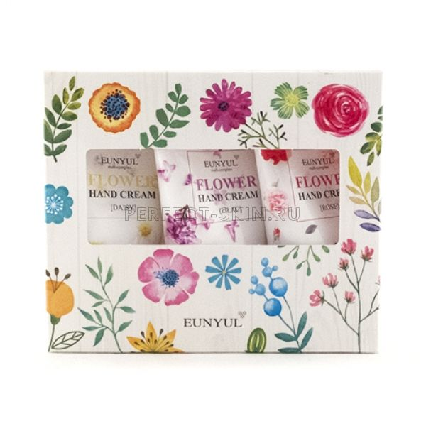 Eunyul Flower Hand Cream 3 Set