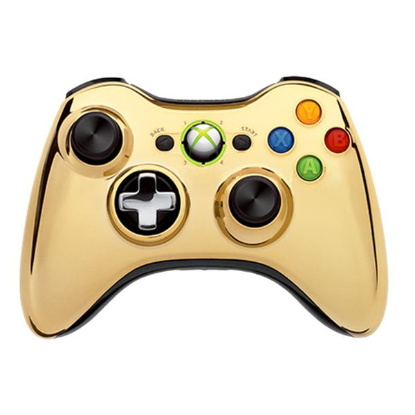 Microsoft Xbox 360 Wireless Controller Джойстик CHROME GOLD