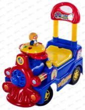 Каталка SUPER TRAIN красный, желтый, голубой 422