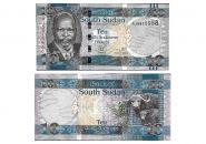 Южный Судан 10 фунтов 2016-2017 пресс UNC