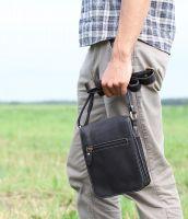 BUFALO SMJ-03 BLACK кожаная сумка для документов