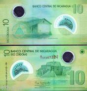 Никарагуа 10 кордоба 2007-2012 полимер пресс UNC