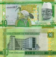 Гамбия 10 даласи 2015 пресс UNC