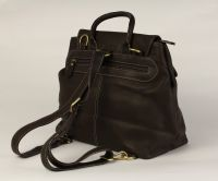 BUFALO BPJ-05 BROWN кожаный рюкзак-трансформер