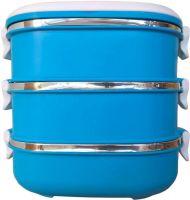 Ланч-бокс трёхсекционный 2,4 литра синий