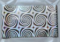 Фольга для дизайна ногтей, литья (переводная). Цвет: серебро круги (Размер: 4см на 1 метр)