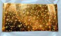 Фольга для дизайна ногтей, литья (переводная). Цвет: золото звезды (Размер: 4см на 1 метр)