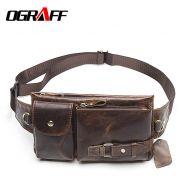 Поясная кожаная сумка Ograff
