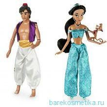 Комплект кукол Жасмин и Аладдин