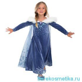 Платье костюм Эльзы ЛЮКС