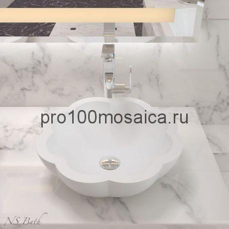 NST-45000 Раковина из POLYSTONE (акриловый камень) размер,мм: 450*430*155 (NS BATH)
