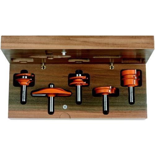 Комплект 5 фрез мебельный фасад (A) (дер.футляр) S=12,7 RH