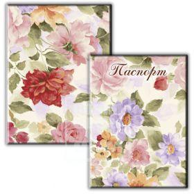 Обложка для паспорта «Цветы пастель»