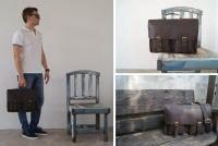 BUFALO LBN-05 BROWN деловой кожаный портфель