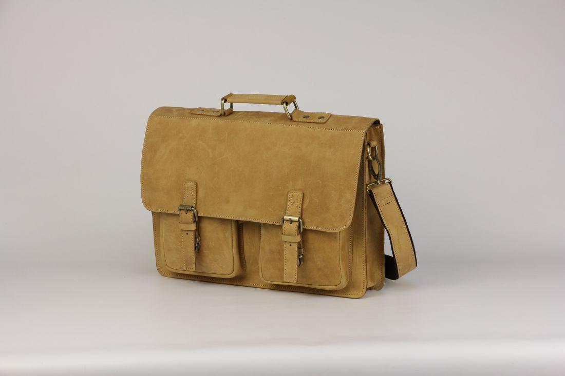 BUFALO LBN-05 CAMEL деловой кожаный портфель