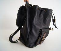 BUFALO BPJ-07 BLACK кожаный рюкзак