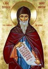 Викентий Леринский (рукописная икона)