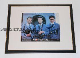 Автографы: Билл Мюррей, Дэн Эйкройд, Харольд Рэмис. Охотники за привидениями. 1984 год. Редкость!