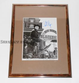 Автограф: Юл Бриннер. Великолепная семерка. Фото 1976 года. Редкость