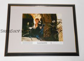 Автограф: Дэвид Боуи. Лабиринт. Фото 1986 года. Редкость