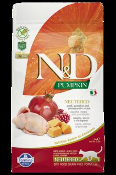 N&D Cat GF Pumpkin Neutered Quail.(Ньютрид - перепел, тыква и гранат.)