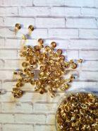 люверс 4,8 мм цвет ЗОЛОТО материал мягкий металл ( с насечками) упаковка   10 шт