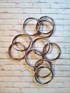 кольца для альбома СЕРЕБРО  2 шт диаметр 40 мм