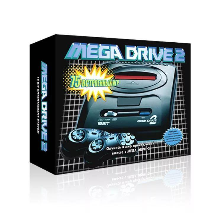 Sega Simba's Mega Drive 2 чёрная+75 встр.игр