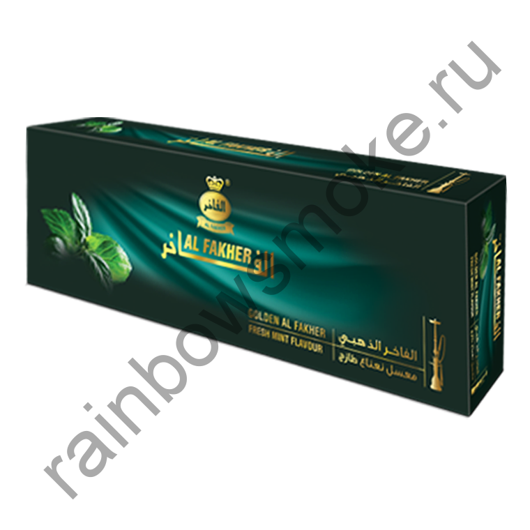 Al Fakher Golden блок (10х50гр) - Fresh Mint (Свежая Мята)