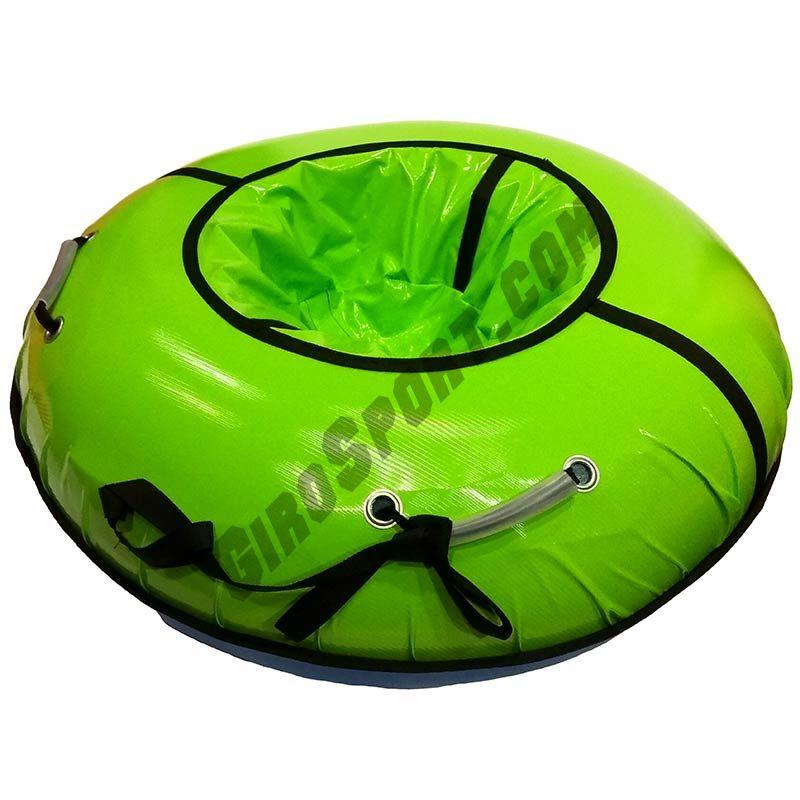 Тюбинг с пластиковым дном Профи 90 см зеленый