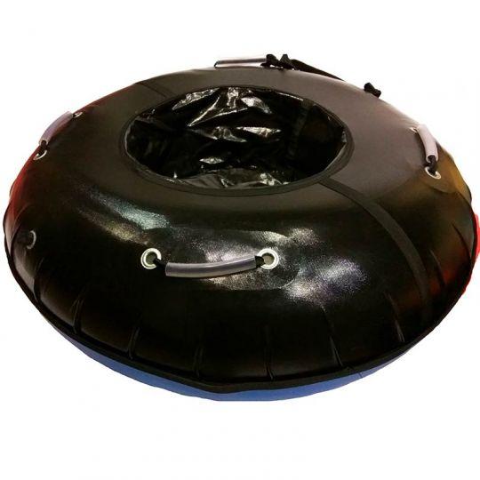 Тюбинг с пластиковым дном Профи 90 см черный