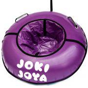Тюбинг с пластиковым дном Профи 105 см фиолетовый с логотипом
