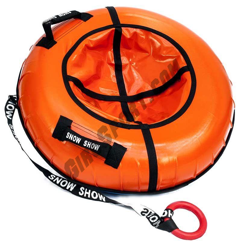 Тюбинг 120см Профи с пластиковым дном, оранжевый