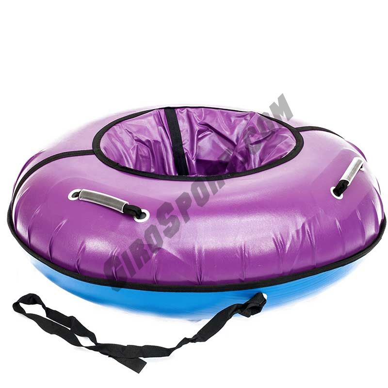 Тюбинг 120см Профи с пластиковым дном, фиолетовый