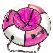 Тюбинг Практик 120 см розовый/серебро