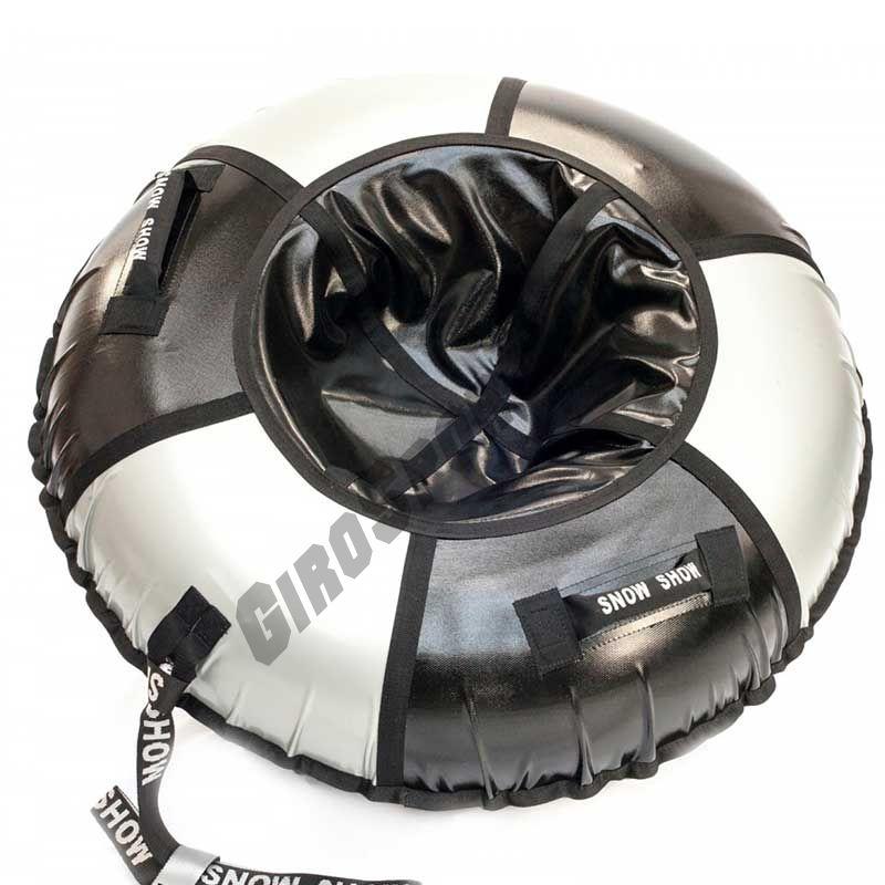 Тюбинг Практик 120 см черный/серебро