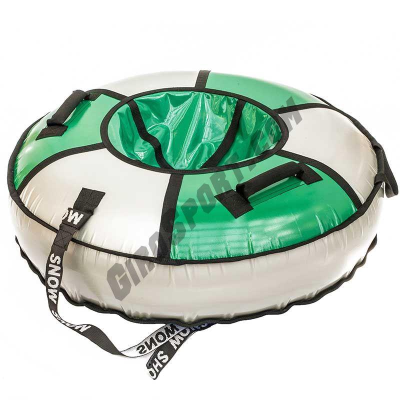 Тюбинг Элит 105 см зеленый/серебро
