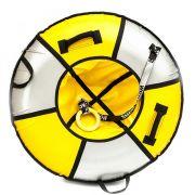Тюбинг Элит 120 см желтый/серебро
