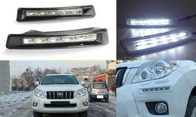 Дневные ходовые огни в бампер (тип 2)  для Toyota Land Cruiser Prado 150 2010