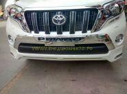 Хромированные накладки на передний бампер для Toyota Land Cruiser Prado 150 2013 -