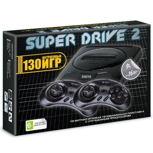 16 bit Super Drive 2 Classic (130-in-1) черный
